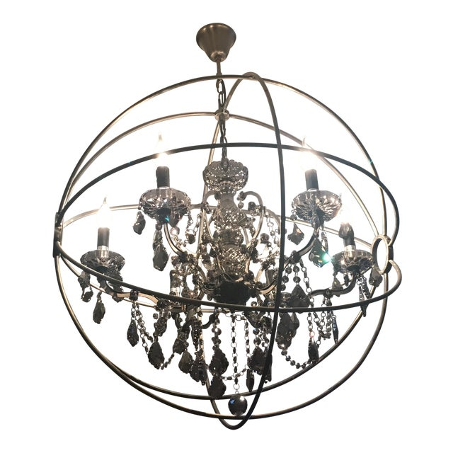 Foucault's Orb Crystal Chandelier - Image 1 of 4