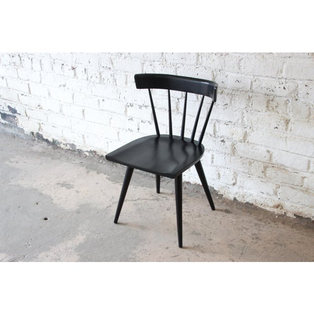 Set of Eight Paul McCobb Ebonized Planner Group Dining Chairs For Sale - Image 10 of 13