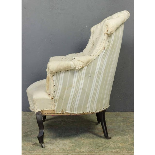 Pair of French Armchairs in Muslin - Image 8 of 11