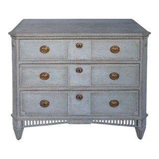 Swedish Neoclassical 3-Drawer Chest For Sale