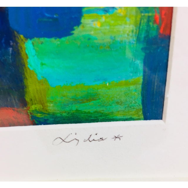 Abstract 20th Century Abstract Acrylic Painting on Paper For Sale - Image 3 of 7