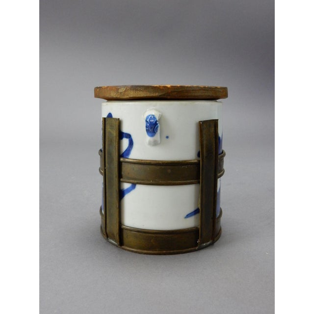 Antique Chinese Blue & White Tea/Tobacco Jar For Sale - Image 11 of 11