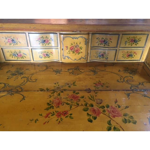 Late 19th Century Italian Painted Commode/ Slant Front Writing Desk For Sale - Image 9 of 13