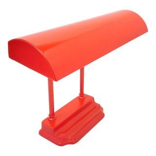 Mid-Century Modern Red Tanker Desk Lamp For Sale