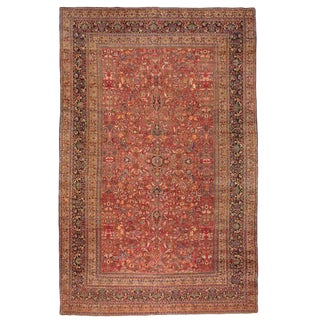 Antique Oversize Persian Khorasson Carpet For Sale