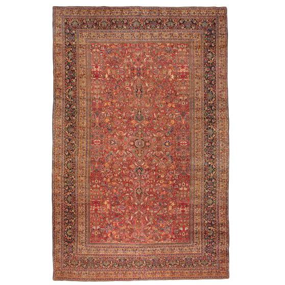 Antique Oversize Persian Khorasson Carpet For Sale