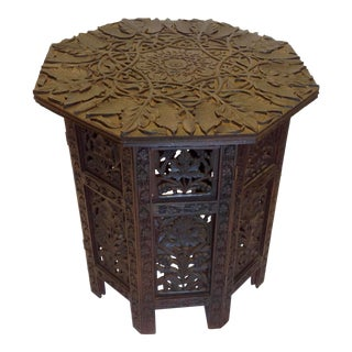 Anglo-Indian Travel Table / Tabouret For Sale
