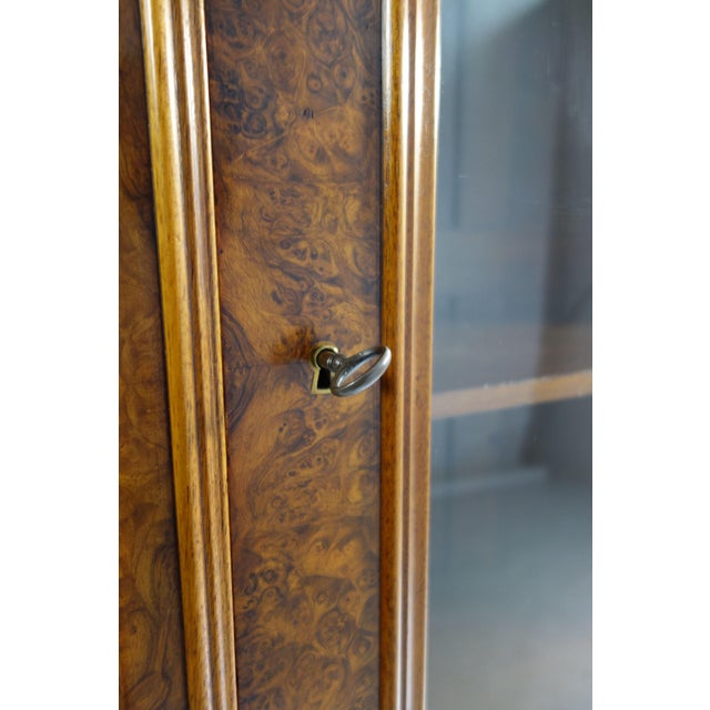 Traditional Glass Front Cabinet with Burl Veneers - Image 6 of 7