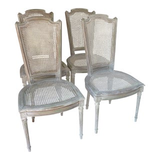 Louis XVI Style Dining Chairs - Set of 4 For Sale