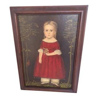 Vintage Mid-Century Jane Eckelberry American Folk Art Painting For Sale