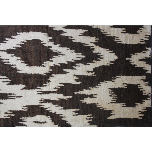 Aara Rugs Hand Knotted Ikat Rug- 10′5″ × 14′1″ For Sale - Image 4 of 4