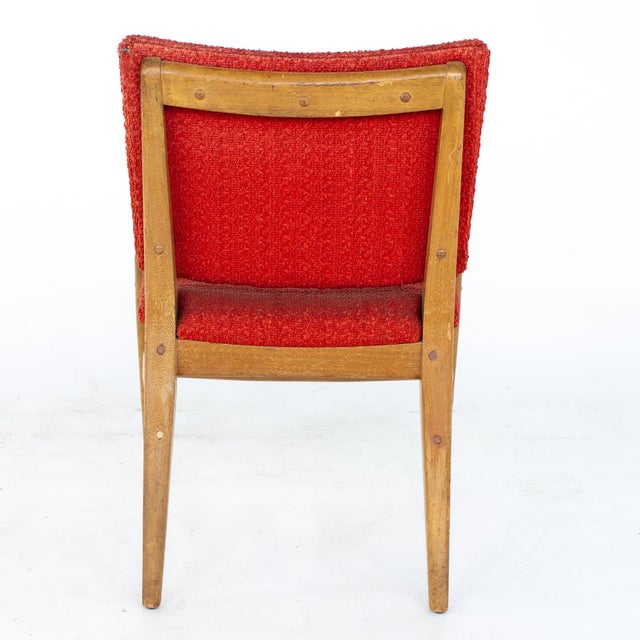 John Keal for Brown Saltman Mid Century Mahogany Dining Chairs - Set of 4 For Sale - Image 9 of 13