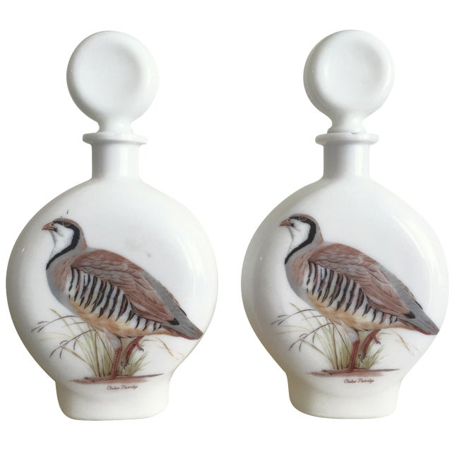"""1969 Field Bird"" Quail Decanters - a Pair - Image 1 of 10"