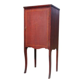 Antique Mahogany Sheet Music Cabinet File Storage Record Stand For Sale