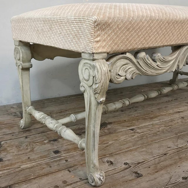 Antique French Louis XIV Painted Bench For Sale In Dallas - Image 6 of 13