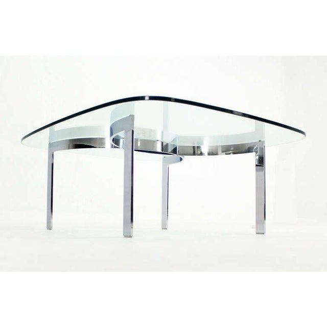 Mid-Century Modern Chrome and Glass-Top Coffee Table For Sale - Image 10 of 10