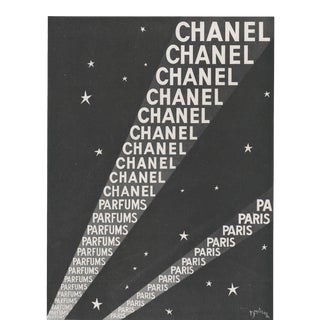 1946 French Chanel Advertisement Print, Matted For Sale
