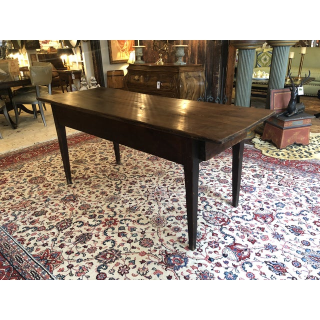 Wood 19th Century French Walnut Farm Table For Sale - Image 7 of 13