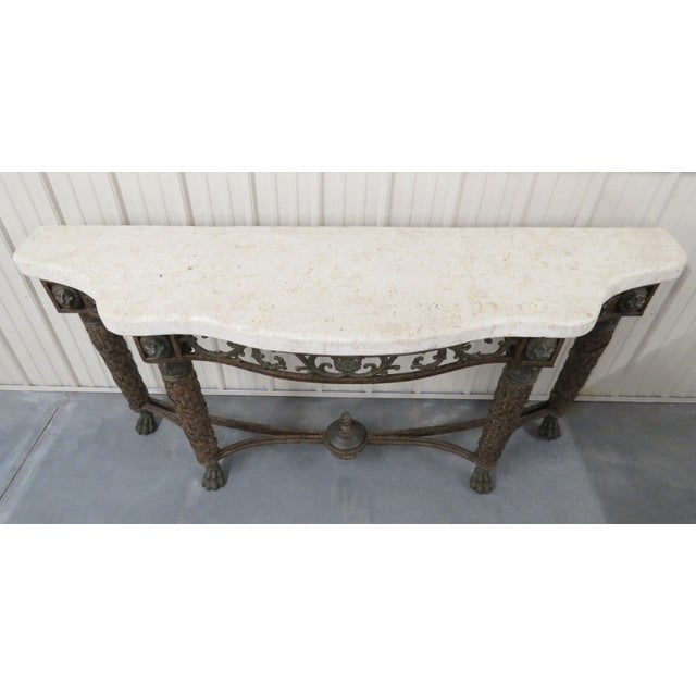 Maitland Smith Console with Lions Heads - Image 4 of 5