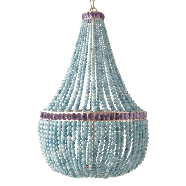 Blue Quartz Empire Chandelier For Sale