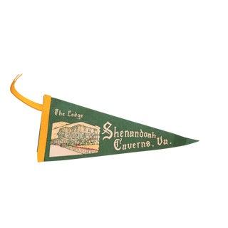 Green the Lodge Shenandoah Caverns VA Felt Flag For Sale