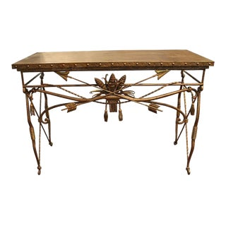 Wrought Iron Cross Arrow Console