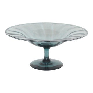 Early 20th Century Antique Steuben Glass Optic Compote For Sale