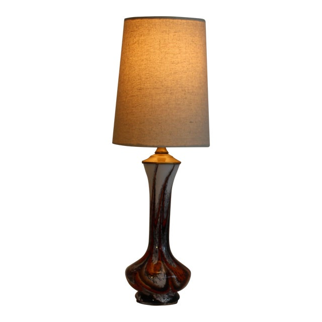 Mid Century Modern Petite Murano Table Lamp For Sale