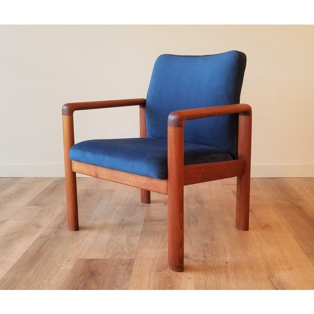 Newly-Upholstered Schou Andersen Møbelfabrik Armchair For Sale - Image 13 of 13