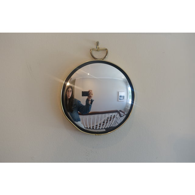 Small Brass Framed Round Mirror For Sale In Los Angeles - Image 6 of 6