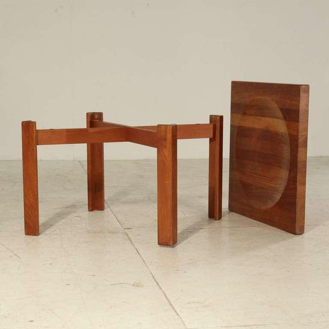 1960s Jens Quistgaard Teak Tray Table with Concave Top, Denmark, 1960s For Sale - Image 5 of 7