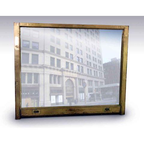 Toy Building Muntz Metal Window Frame Mirror | Chairish