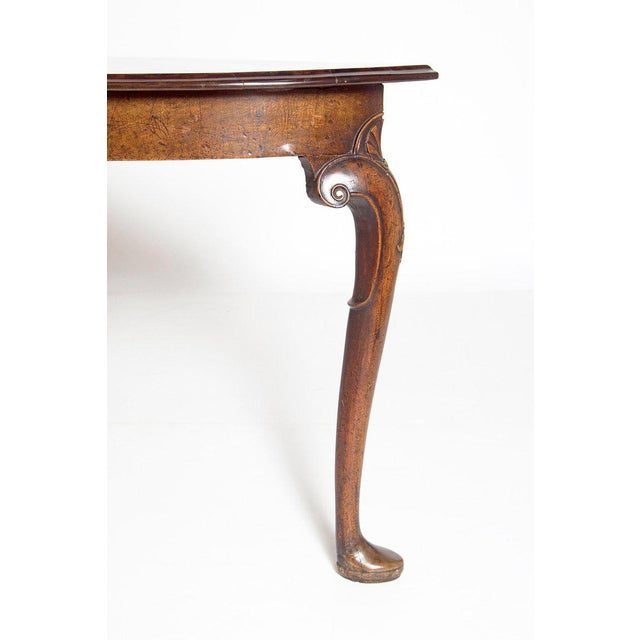 18th Century Irish George I Walnut Demi-Lune Table For Sale - Image 4 of 13