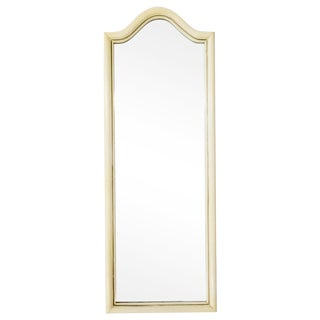 Vintage Mid Century Basset Tall Arched Painted Mirror For Sale