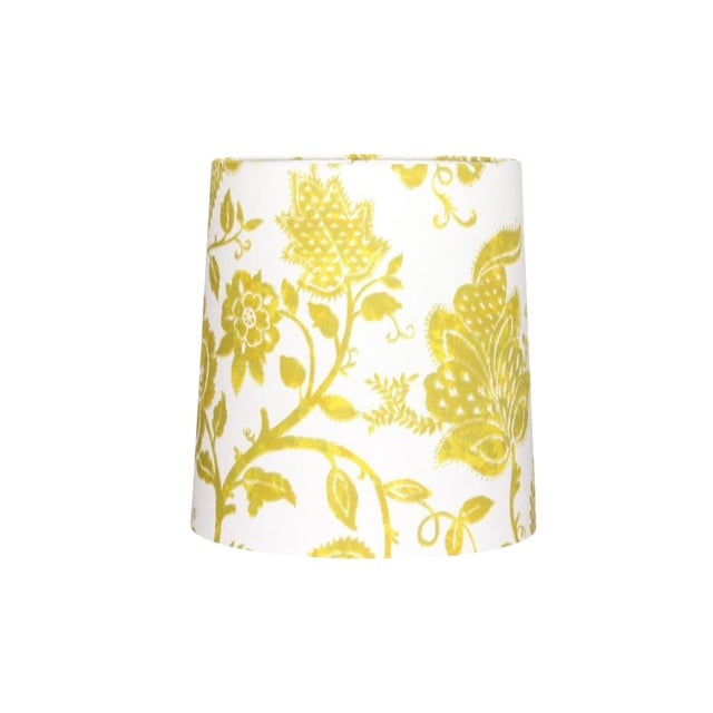 Custom Yellow Floral Drum Lamp Shade For Sale
