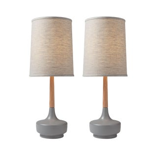 "Mid-Century Inspired Table Lamp ""Brooke Nantucket #5"" — Pair For Sale"