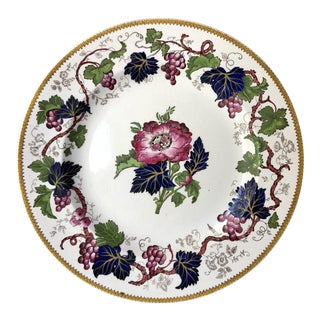 "Antique Wedgwood Floral ""Vine"" Plate"