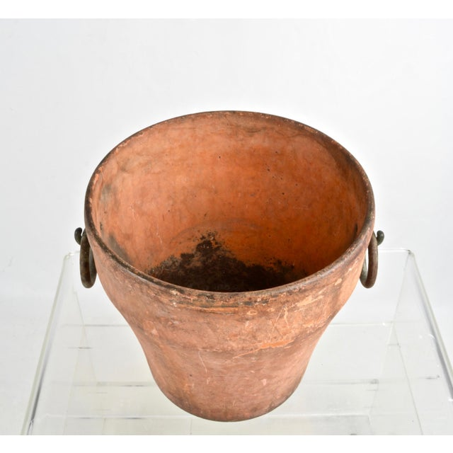 Cast Iron Cast Iron Garden Planter With Terra Cotta Finish For Sale - Image 7 of 11