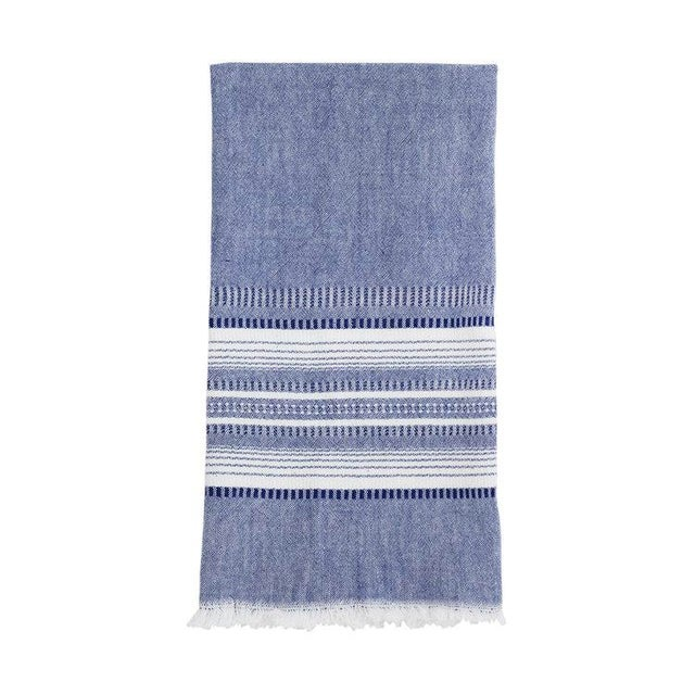 Indigo Chambray Kitchen Towel For Sale - Image 4 of 4
