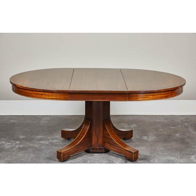 19th C. English Mahogany Pedestal Table For Sale - Image 9 of 9
