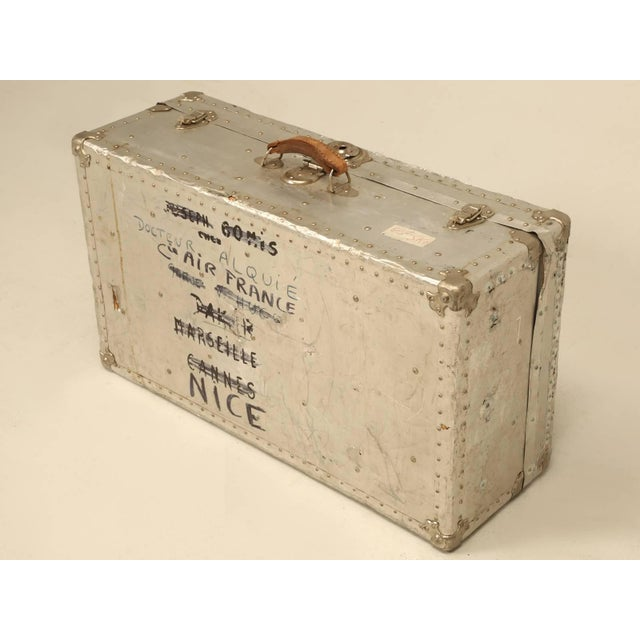Silver French Metal Trunk For Sale - Image 8 of 10