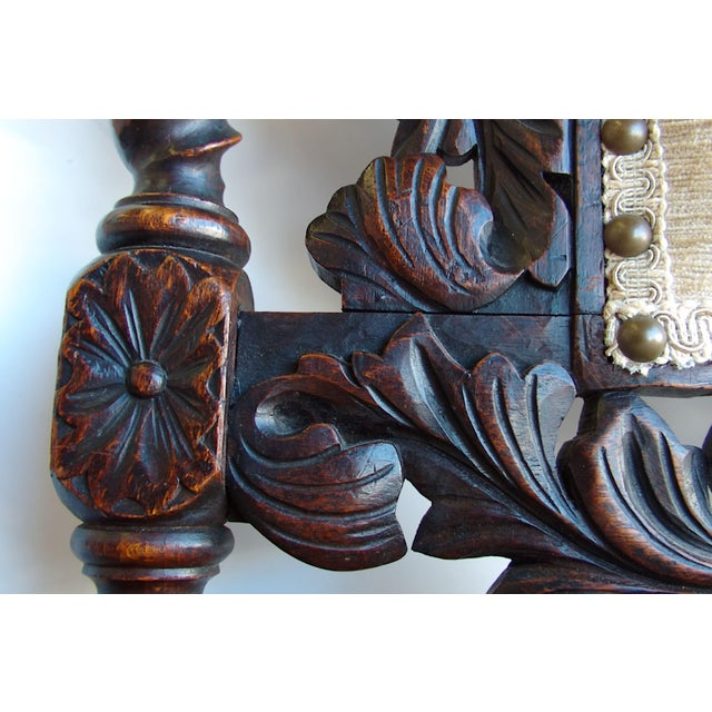 Antique Anglo-Indian Rococo Style Carved Chairs - A Pair - Image 11 of 11