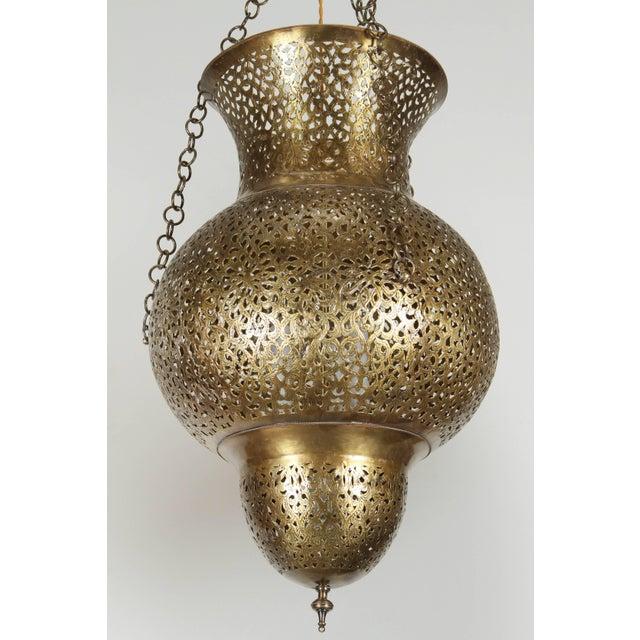 Islamic Moroccan Moorish Brass Chandelier For Sale - Image 3 of 8