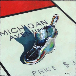 """""""Shopping for Shoes on Michigan Ave"""" Original Artwork by Kathleen Keifer For Sale"""