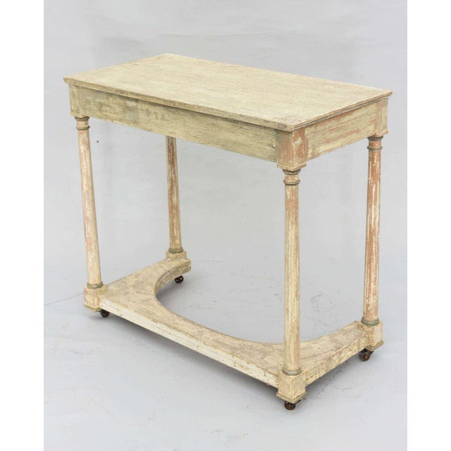 Bronze Painted French Empire Console Table For Sale - Image 7 of 11