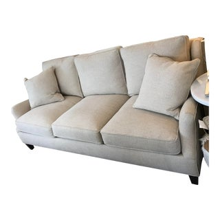 Sam Moore Beige Nailhead Trim Sofa For Sale