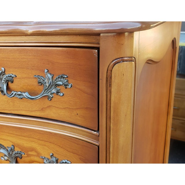 1960s French Provincial Fruitwood 6 Drawer Bedroom Chest of Drawers For Sale - Image 4 of 13