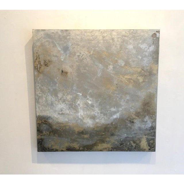 "2010s Michelle Gagliano ""Mackeral Sky 2"" Cloudscape Oil Glazes Painting on Wood Panel For Sale - Image 5 of 5"