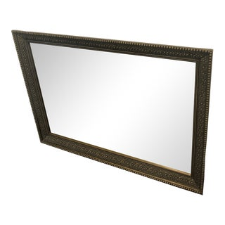 Antique Etched Brass Mirror For Sale