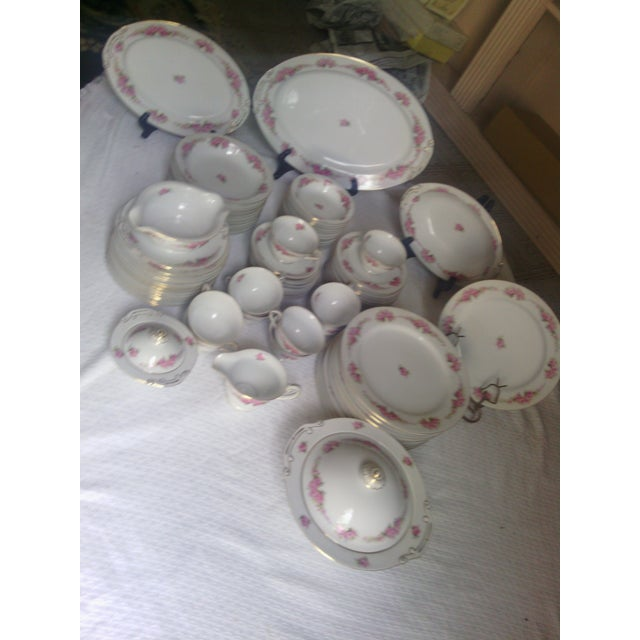 Orion Fine China, Made In Occupied Japan, Dinnerware Set - 89 Pieces. Beautiful vintage dinner set. This pattern is hard...
